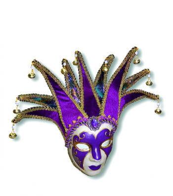 Venetian Jolly mask purple