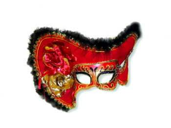 Venezienische Lady Pirate Mask Red