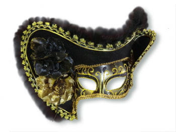 Venezianische Lady-Piraten-Maske schwarz