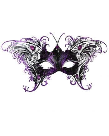 Venetian Butterfly Domino Black Violet