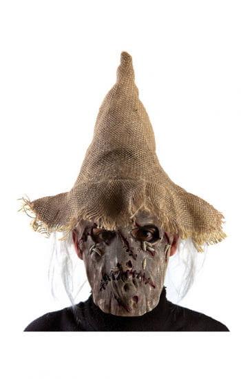 Vogelscheuche Maske mit Hut