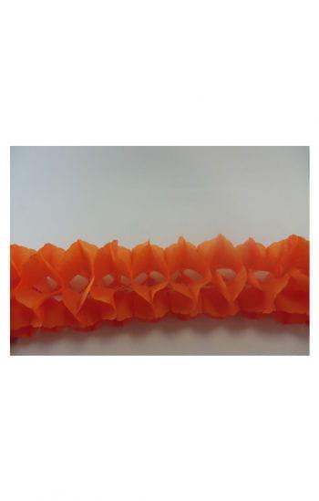 Waben Girlande orange