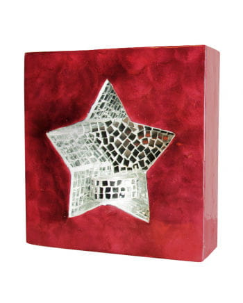 Wall light mosaic red star