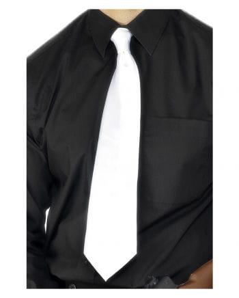 Satin tie white