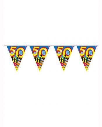 Wimpelkette Swirls 50 years