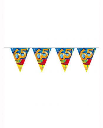 Wimpelkette Swirls 65 years
