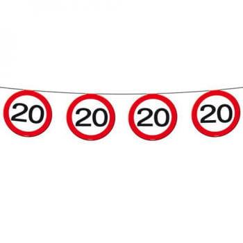Wimpelkette Verkehrsschild 20