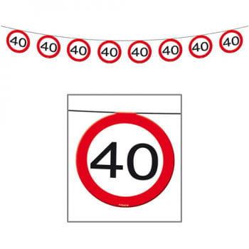 Bunting Road Sign 40