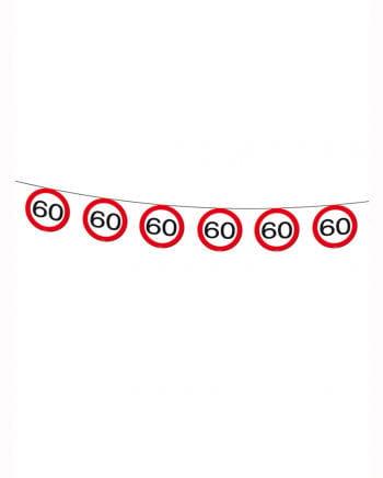 Wimpelkette Verkehrsschild 60
