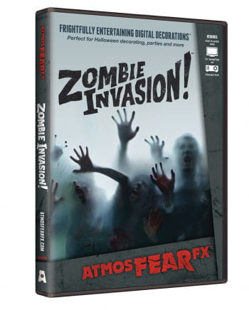 Zombie Invasion TV Halloween Effect DVD