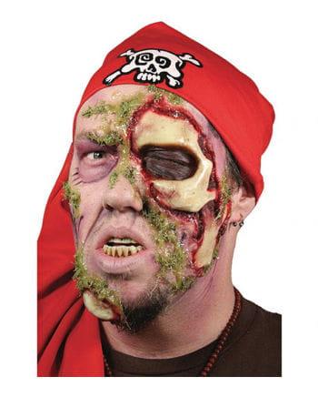Zombie Pirat Latex Wunde