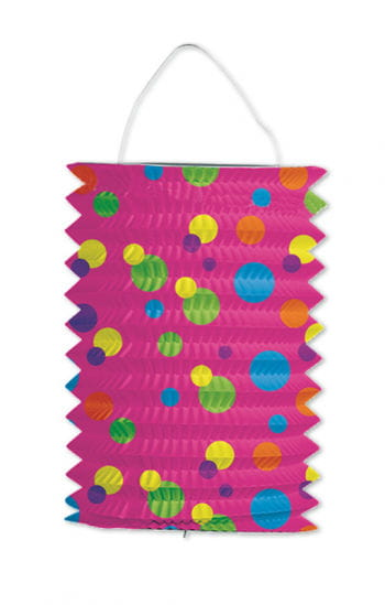 Zuglaterne pink with colorful dots