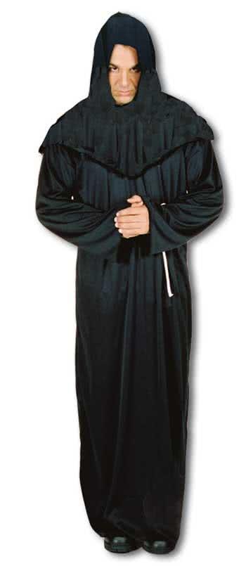 schwarze henkers kutte henkers robe f r halloween. Black Bedroom Furniture Sets. Home Design Ideas