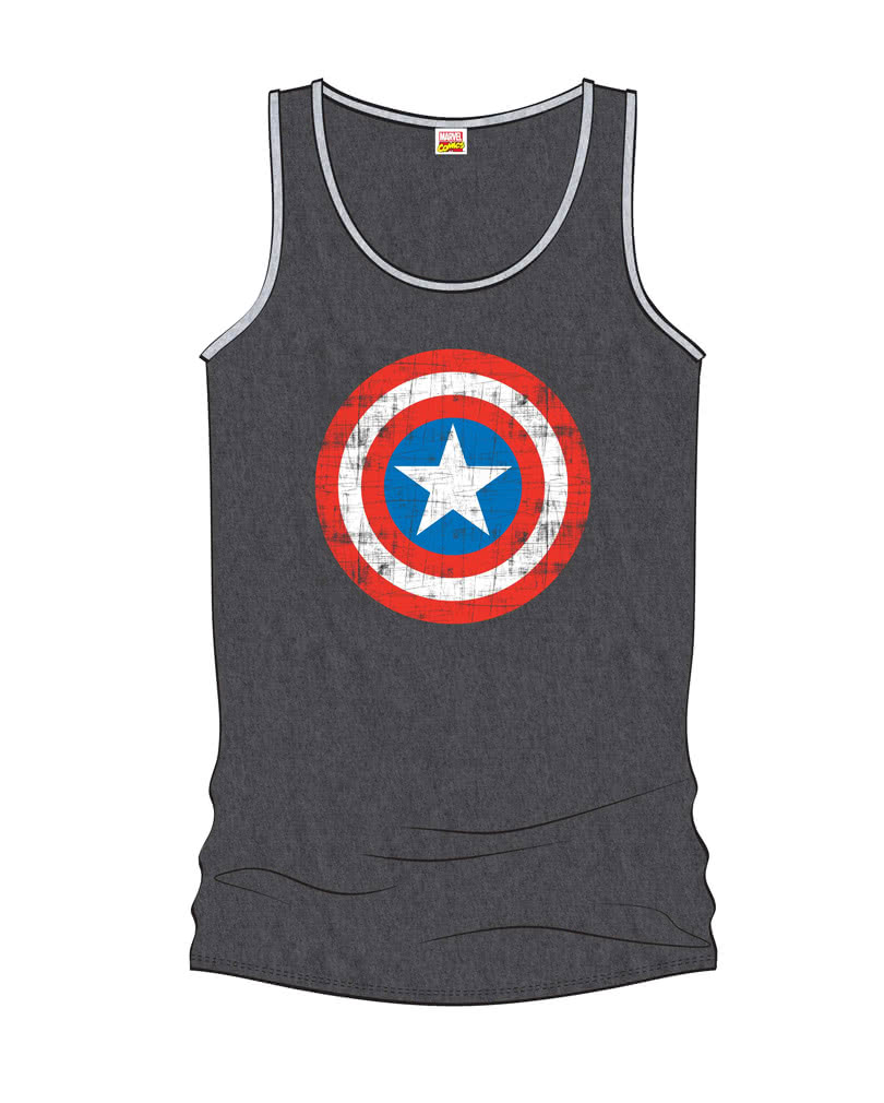 captain america herren tank top grau lizenziertes marvel m nner shirt horror. Black Bedroom Furniture Sets. Home Design Ideas