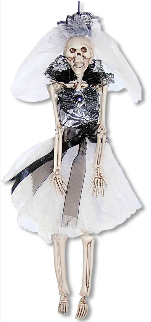schwarze skelettbraut h 228 ngefigur deko skelett skelett braut horror shop