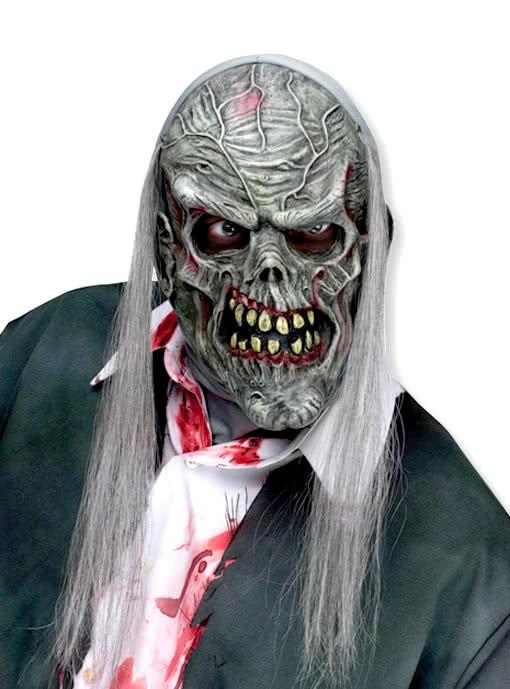 zombie maske grau gruselige halloweenmaske horror. Black Bedroom Furniture Sets. Home Design Ideas