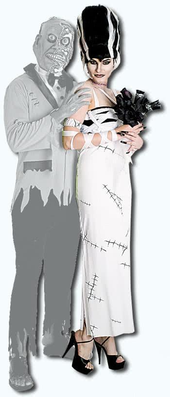 Bride of Frankenstein trim Gr. L  sc 1 st  Horror-Shop.com & Bride of Frankenstein trim Gr. L | Sexy Woman costume of the Dead ...