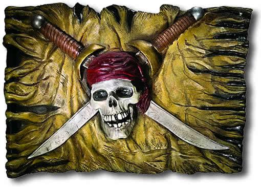 Wandschild Piratenflagge | Piraten Zubehör | Horror-Shop.com