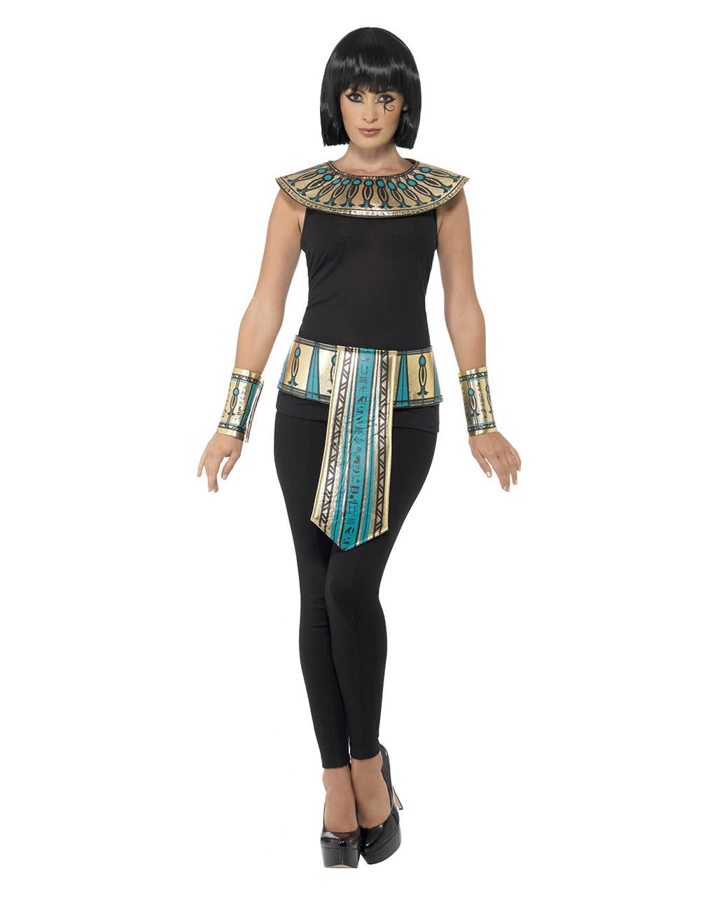 4 Tlg Agypterin Verkleidungs Set Pharaonin Kostum Zubehor