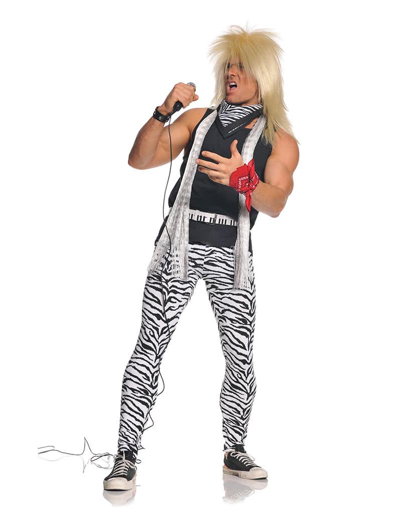 80er Rocker Herrenkostum Rocker Kostum Im 80er Style Horror Shop Com