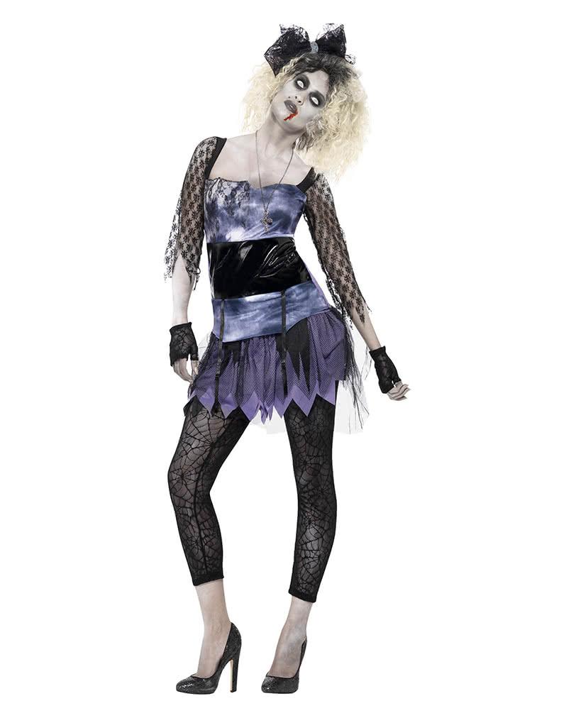 80er Zombiemädchen Damenkostüm   Gruselige 80er Jahre Verkleidung ...