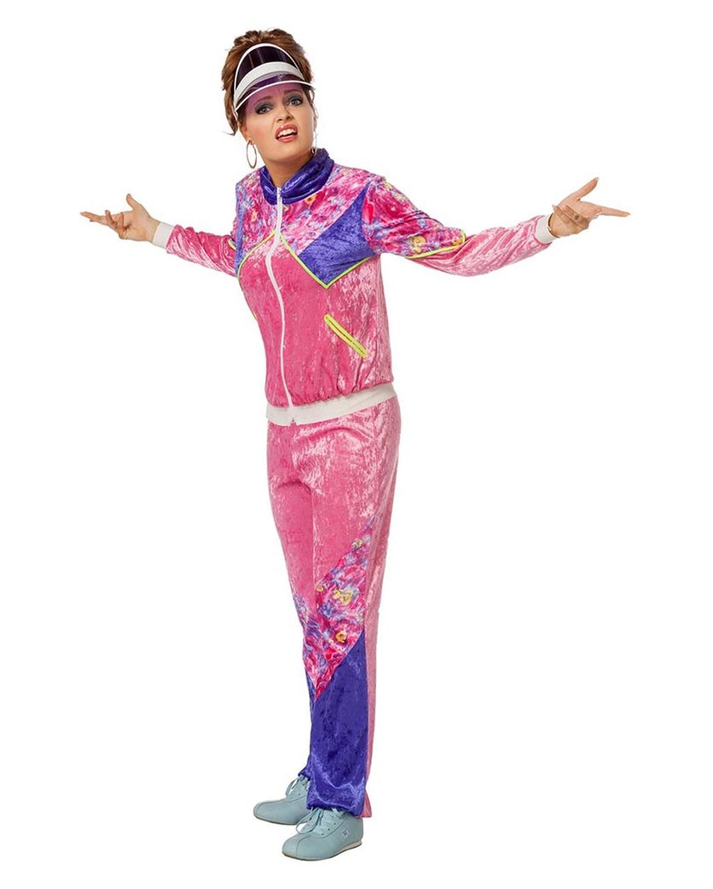 80s Tracksuit Ladies Costume For Theme Parties Horror Shop Com