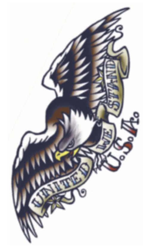 Eagle Sticker Tattoo Jolly tattoo fake tattoo adler tattoo 1950s ...