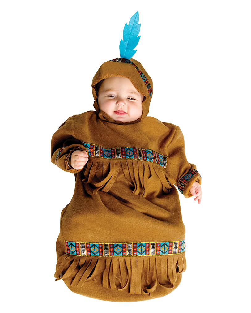 Indian Baby Sack Costume To The Wild West Mottoparty Horror Shop Com