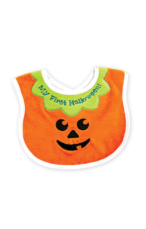 Baby Bib My First Halloween -A Cute Little Pumpkin Face Bib for ...