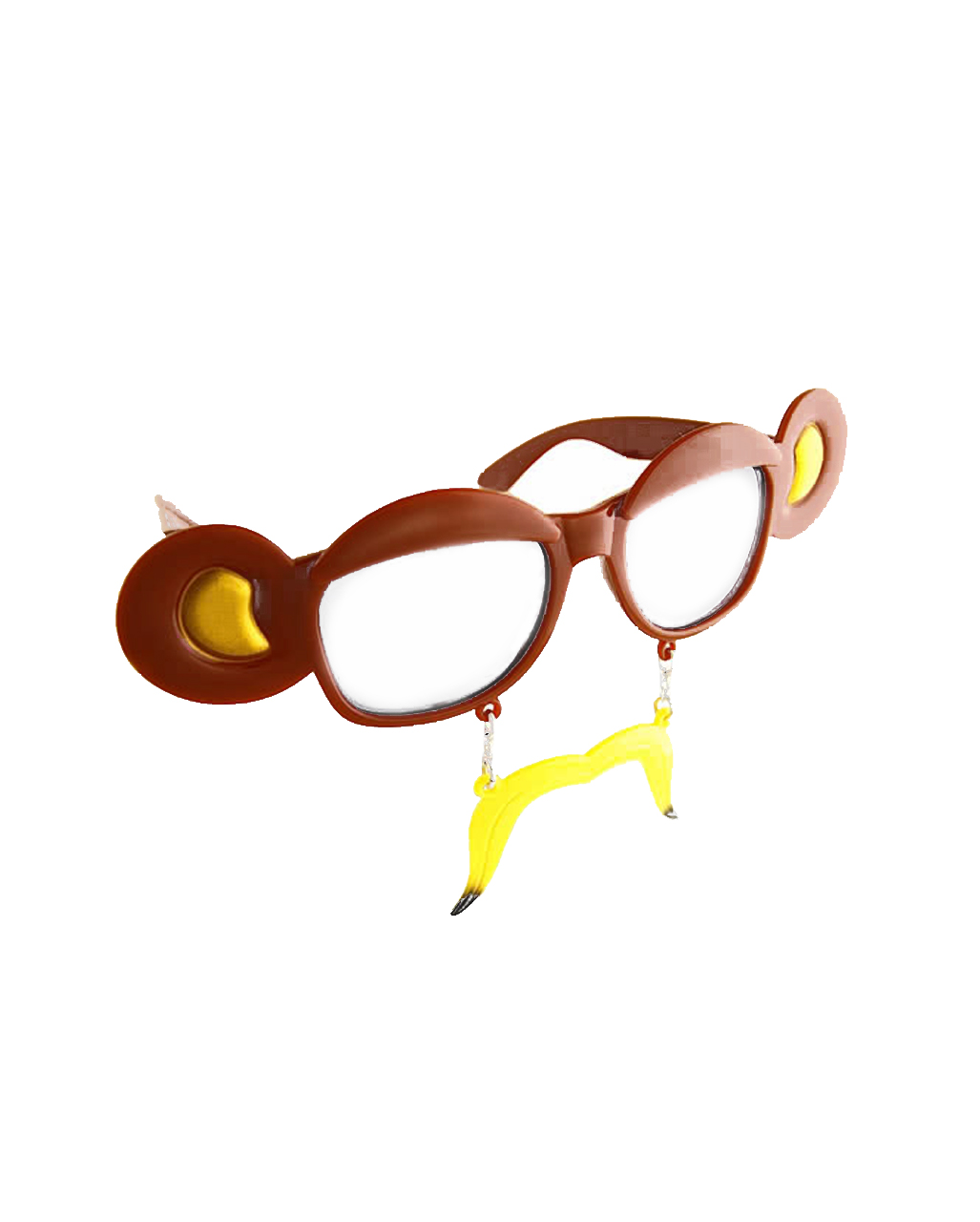 54caee25ef6 Bananas Monkey Glasses Transparent as a costume accessory