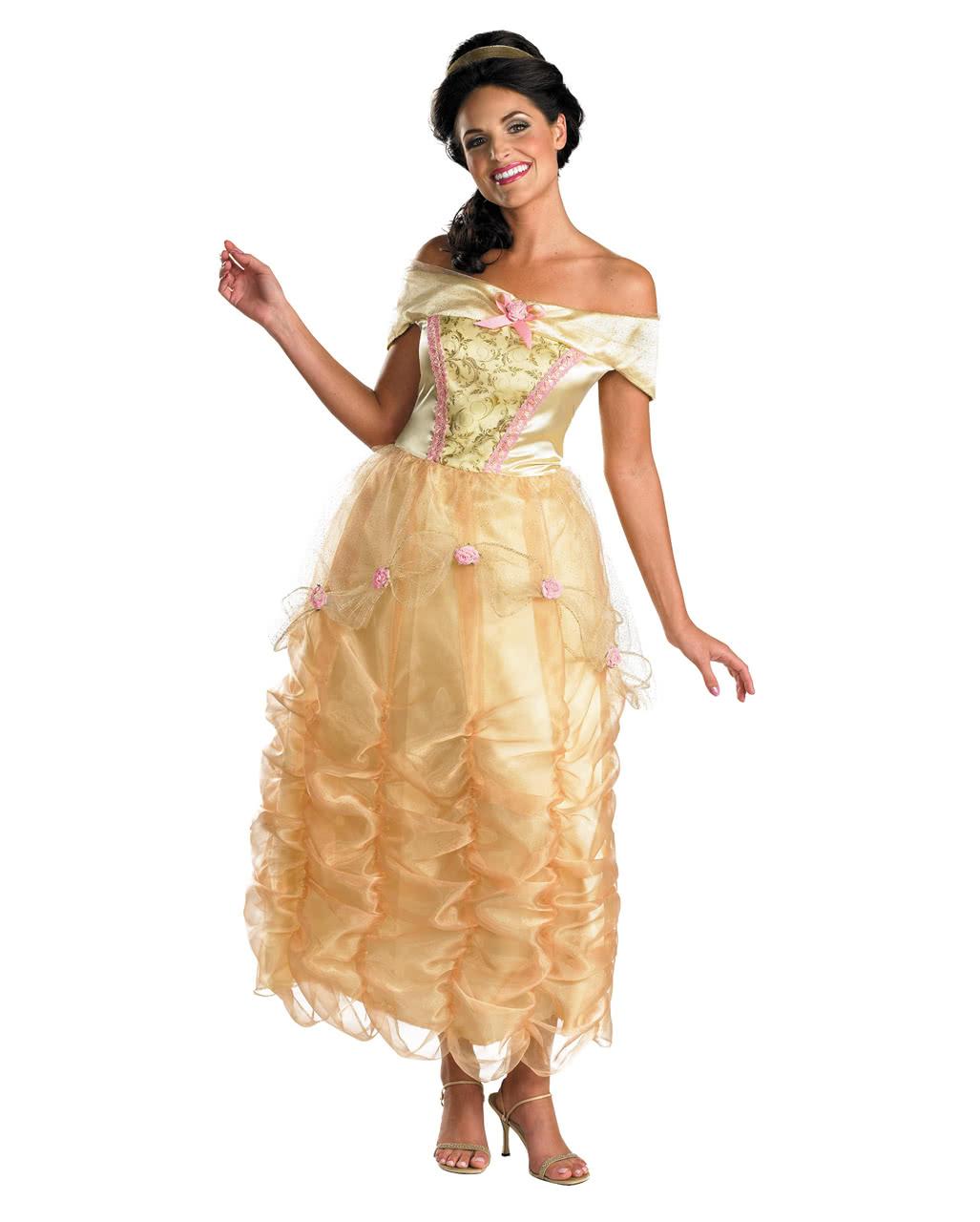Disney S Belle Ladys Costume Deluxe Fairytale Costume Horror