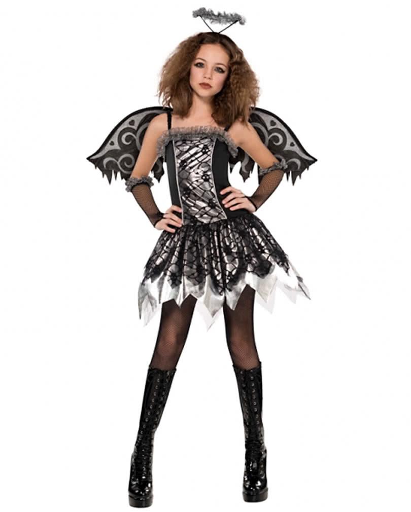 Black Fallen Angel Kostum Gefallener Engel Kleid Schwarz Horror