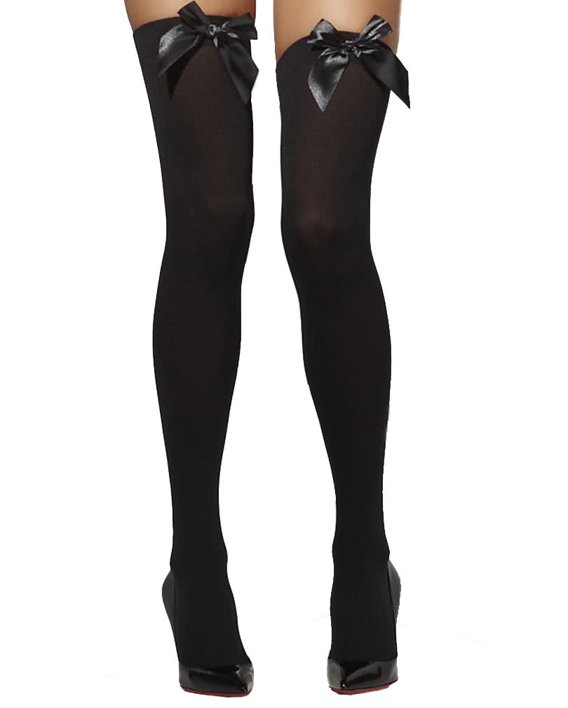 c31705d2d Opaque thigh high stockings black