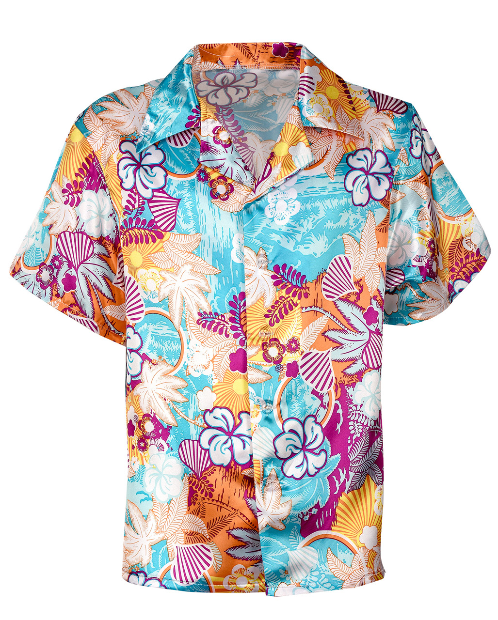 6c86cbf4 Hawaii Satin Shirt buy for theme party | horror-shop.com