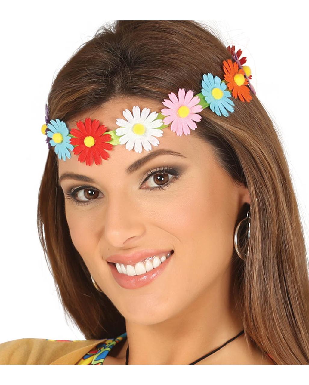 Colorful Hippie Flower Headband For Carnival Horror Shopcom