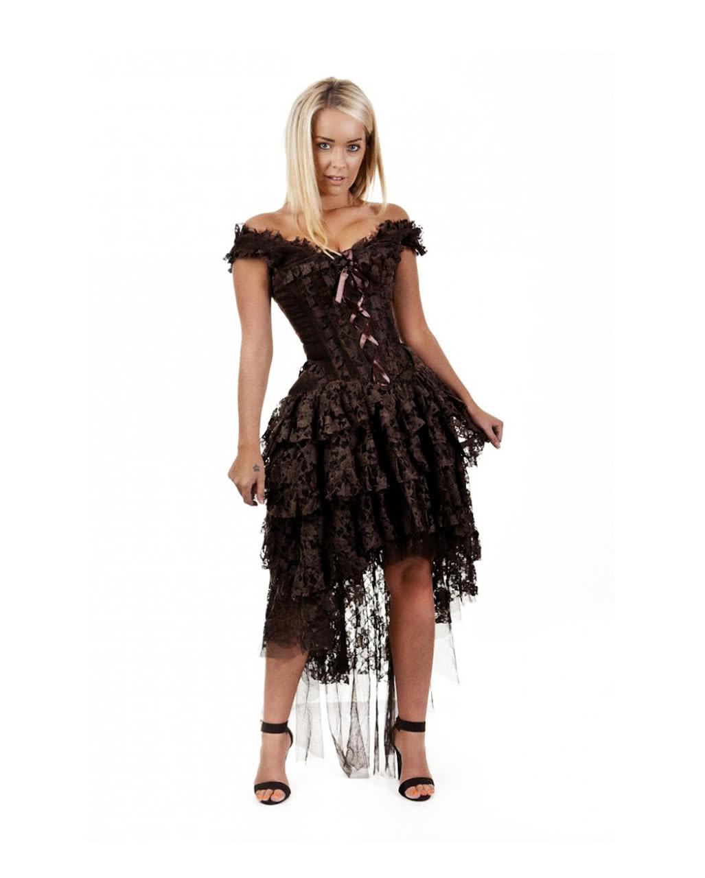 Burleska Ophelie Kleid braun | Spitzenkleid | Gothic Kleider ...