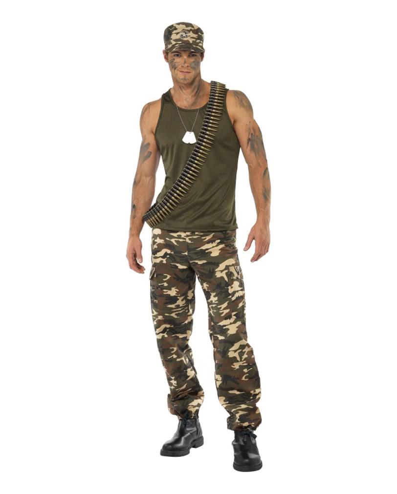 Camouflage Herren Kostum Armee Verkleidung Fur Manner Horror