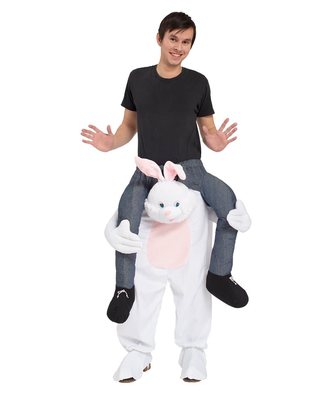 sc 1 st  Horror-Shop.com & White bunny costume Piggyback for Carnival | horror-shop.com
