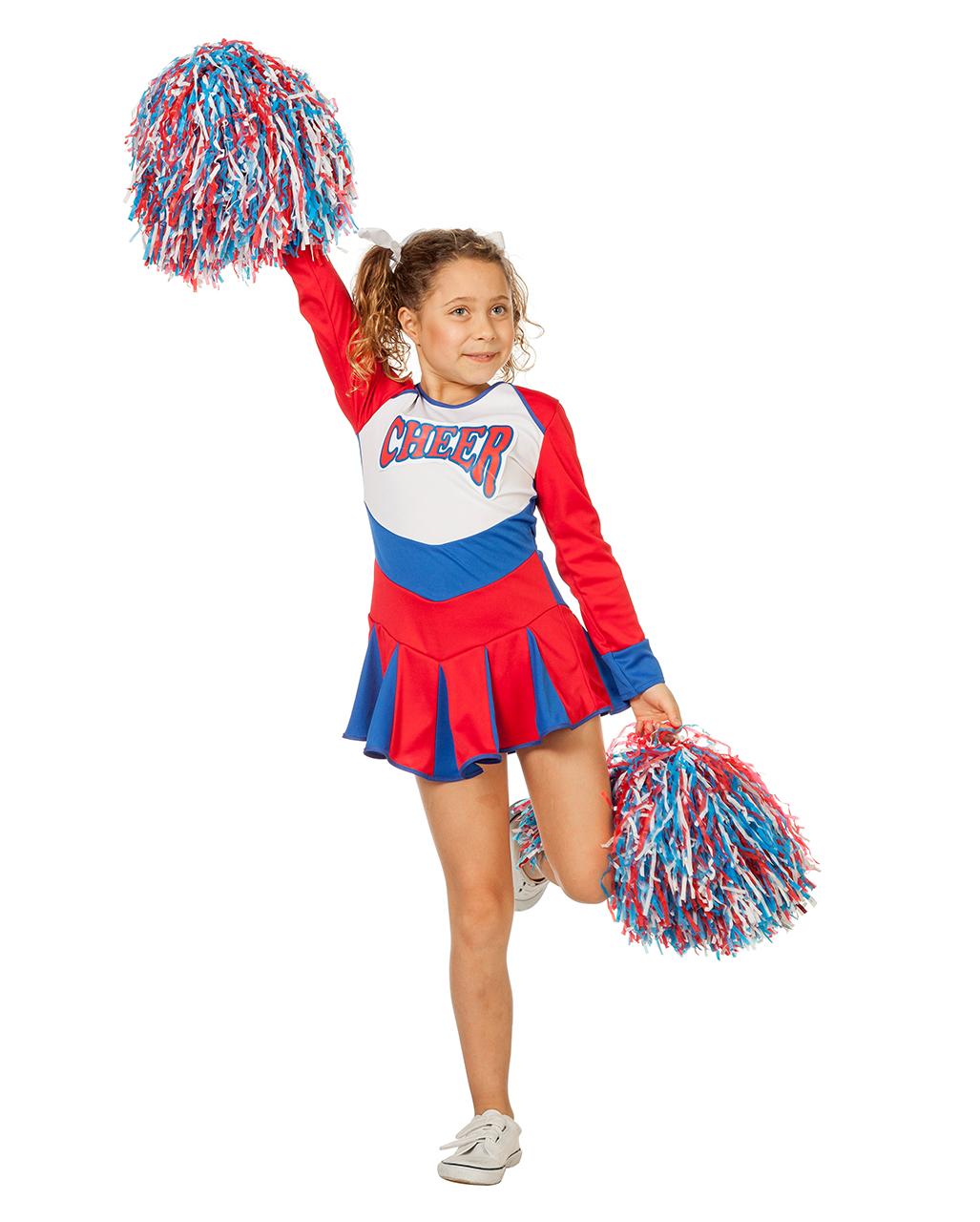Cheerleader Children Costume Red Blue For Carnival Horror Shop Com