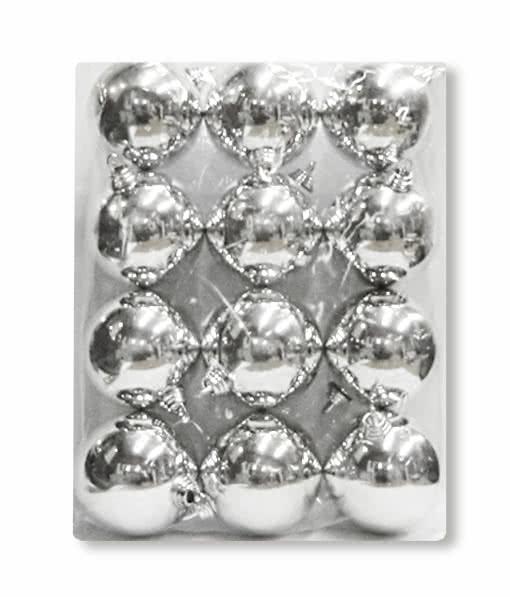 Christbaumkugeln Silber Matt.Christmas Baubles Silver 12 Pieces