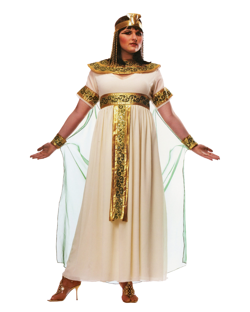 Cleopatra Plus Size Kostum In Ubergrossen Kaufen Horror Shop Com
