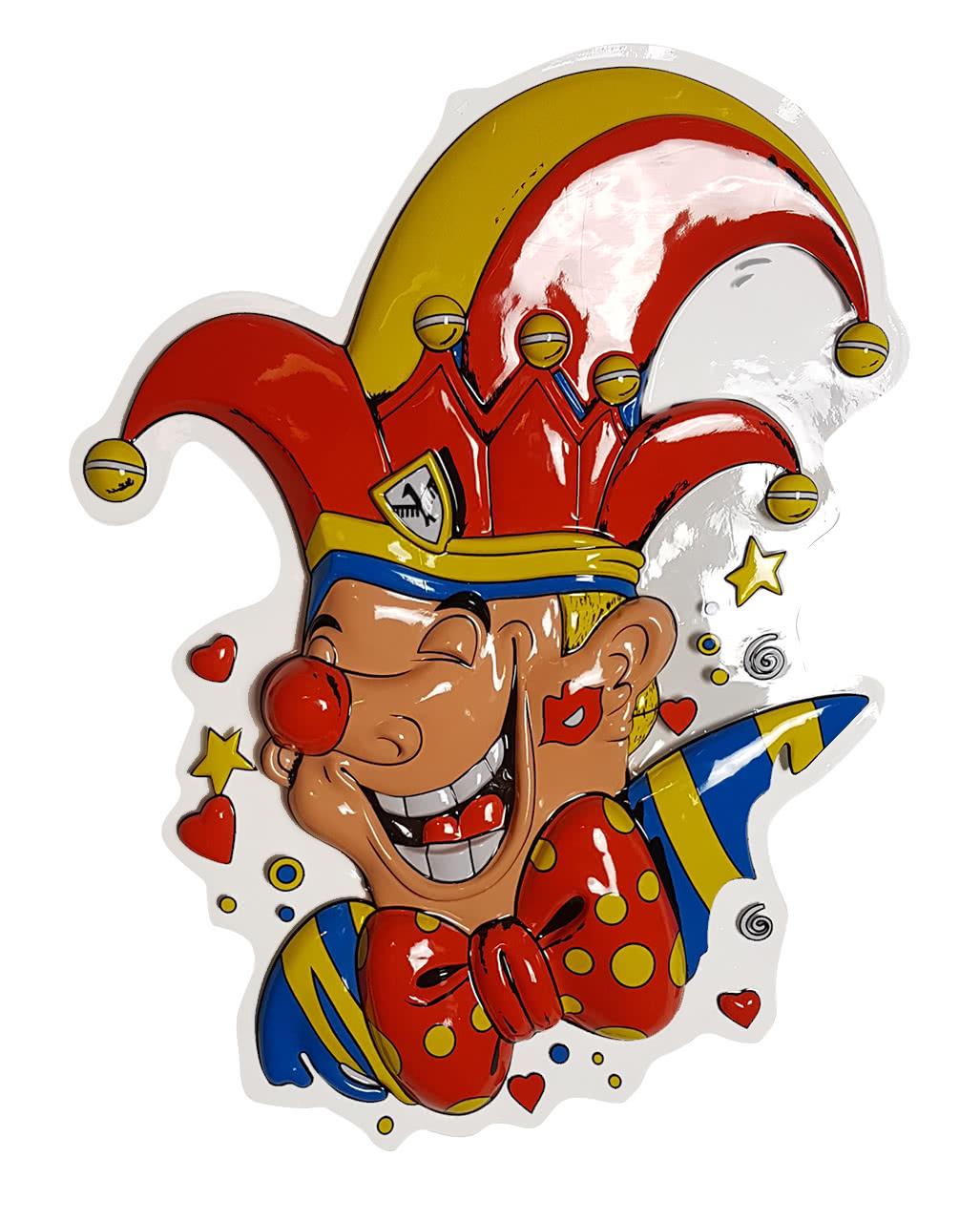 Clown With Narrenkappe Wanddeko Carnival Decoration Horror Shop Com