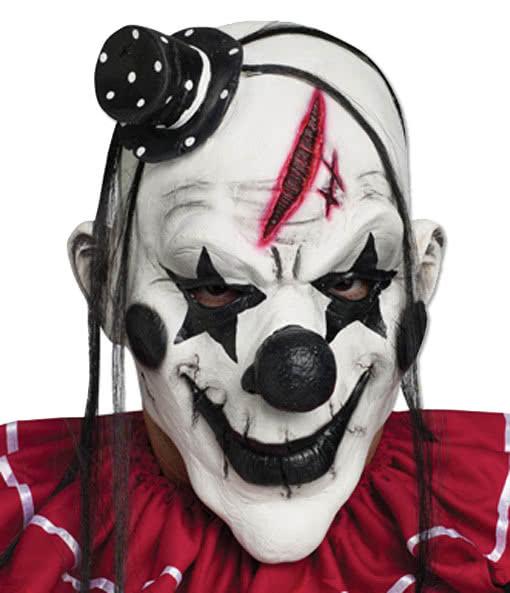 Clown Maske Schwarz Weiss Fiese Joker Maske Aus Dem Horror Circus