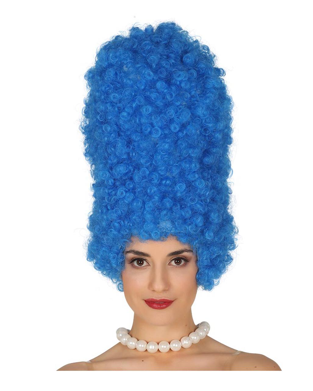 Comic Wig Marge Blue Carnival Wig Horror Shop Com
