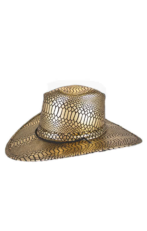 Cowboy hat gold   black  5e19de4d362a