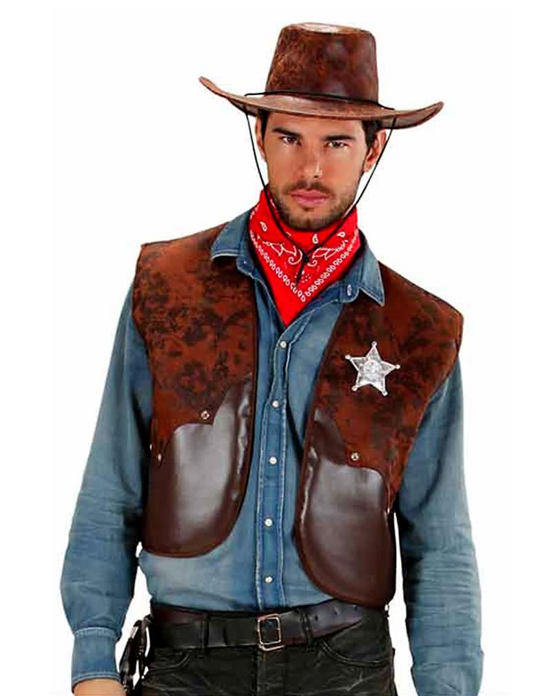cowboy vest brown xl cowboy costume accessories