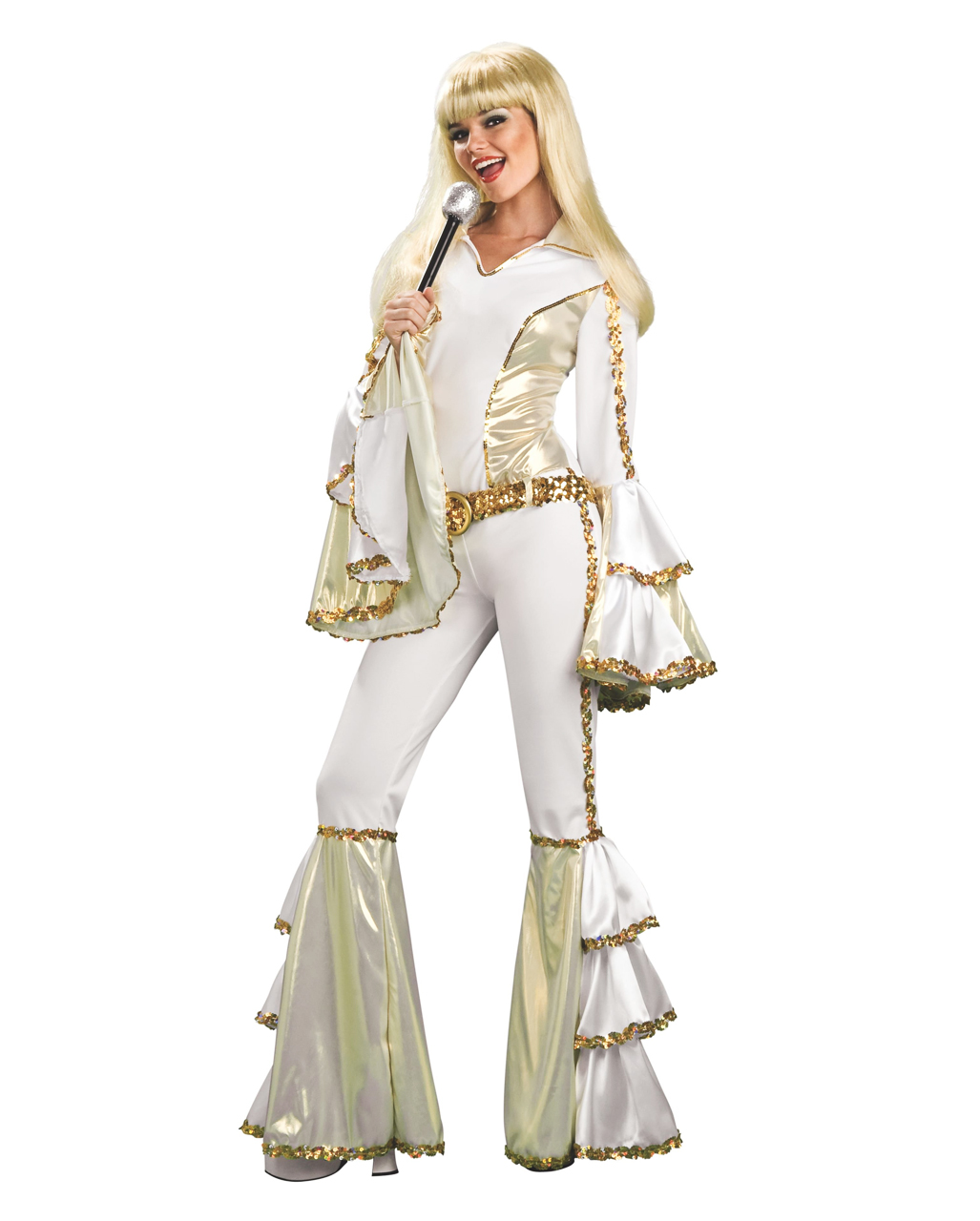 Dancing Queen Kostüm 70er Jahre Kostüm Disco Queen Glitter Kostüm
