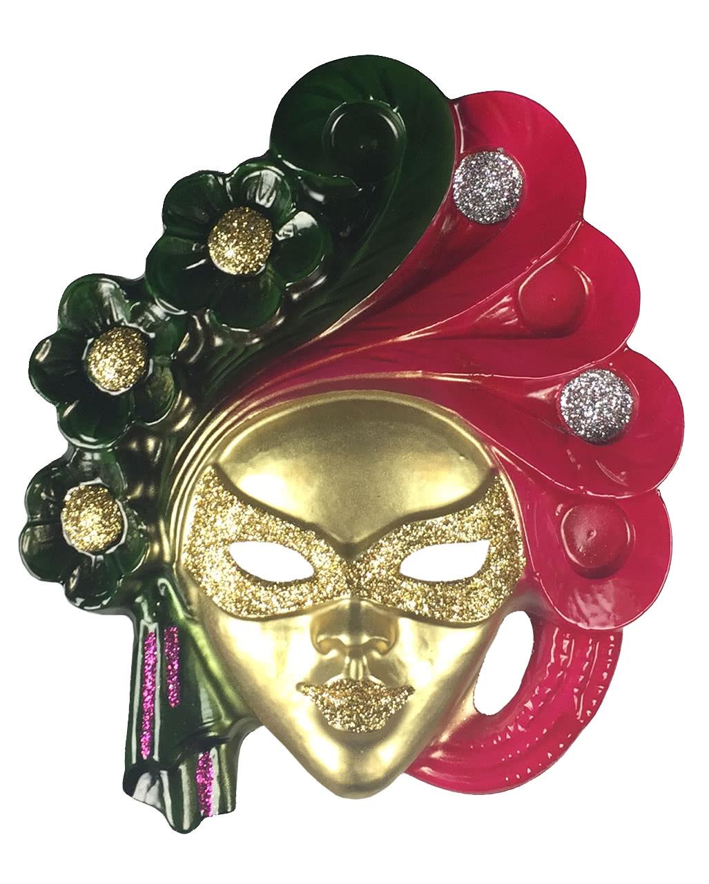 Venezianische Wanddeko Maske zum Maskenball | Horror-Shop.com