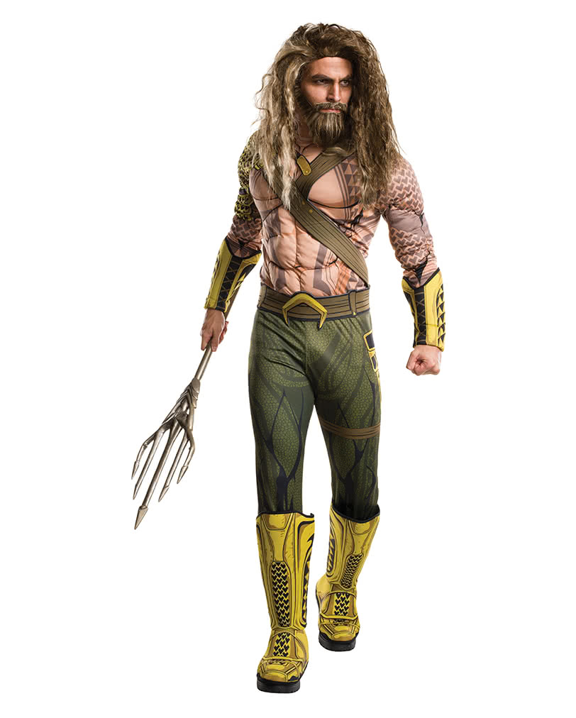 Aquaman Deluxe Menu0027s Costume  sc 1 st  Horror-Shop.com : aquaman costume hoodie  - Germanpascual.Com