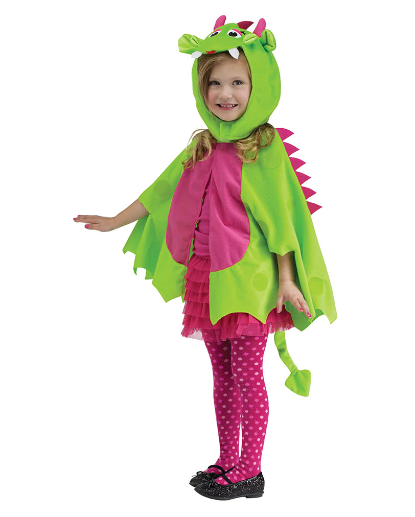 dragon cloak with cap green-pink | halloween dragon costume for